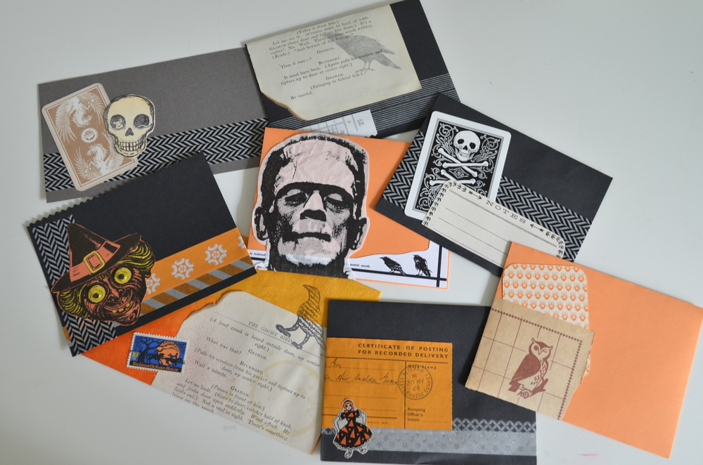 Halloween Mail Art Party by Kimberly Ah