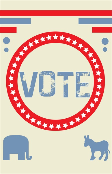 vintage vote poster by Oceans