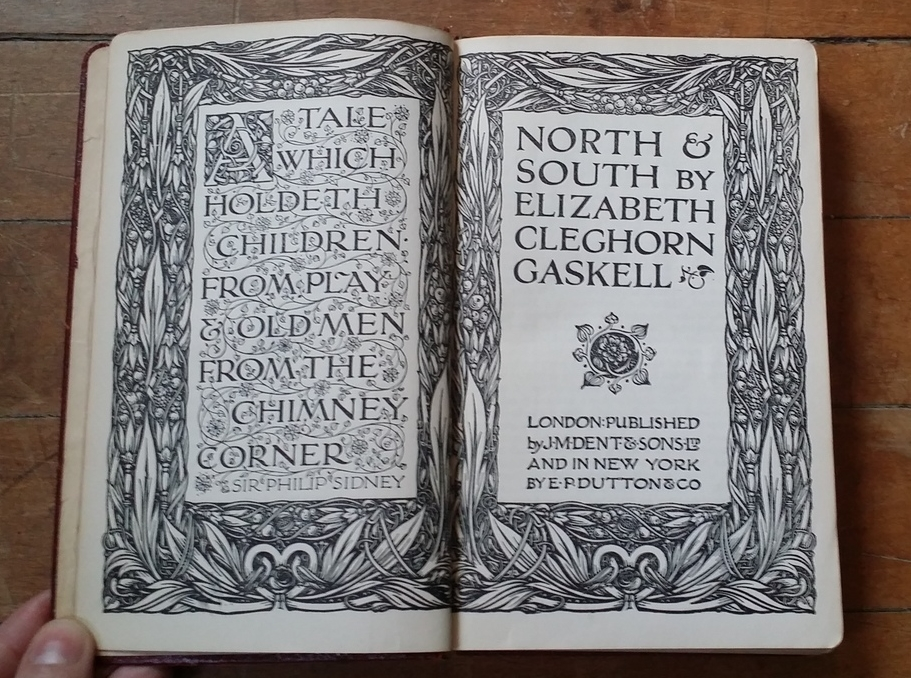 The title page to my vintage copy of  North and South  (undated).