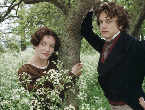 Left you have Rachel Power as Mary Garth and Right is Jonathan Firth as Fred Vincy.