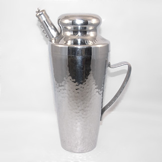 Hammered Finish Chrome Plated Cocktail Shaker