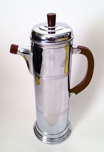 Farber Deco Chrome & Bakelite Cocktail Shaker