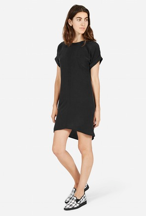 The Silk Short Sleeve Dress – Everlane.png