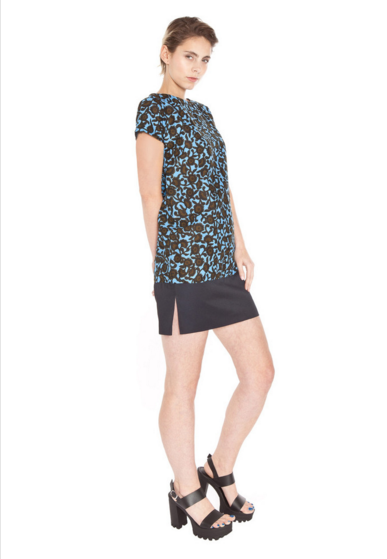 Mayamiko   Floral Mini Dress with black contrast.png