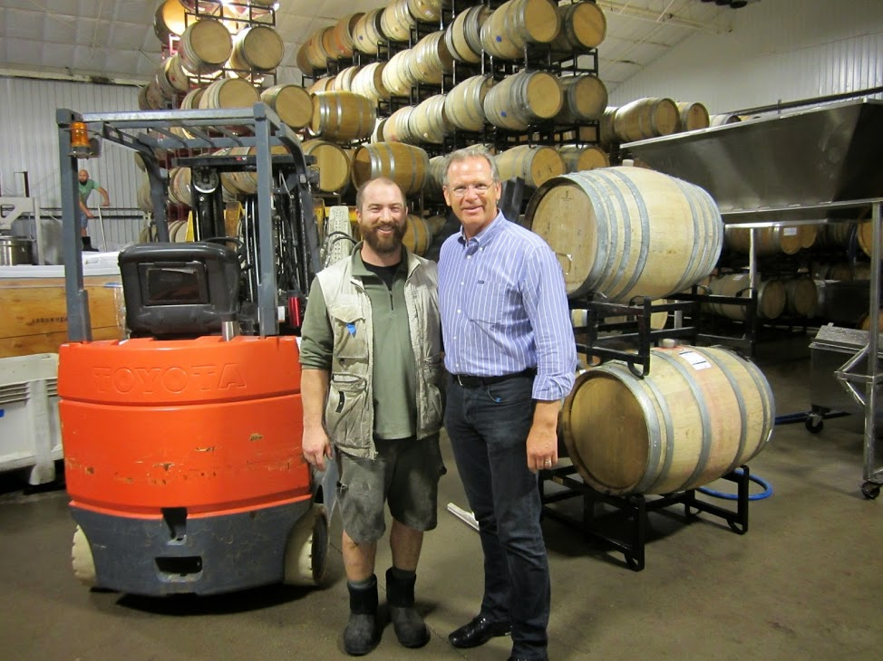 Winemaker Dan Schuler-Jones, Owner Steve Zotovich