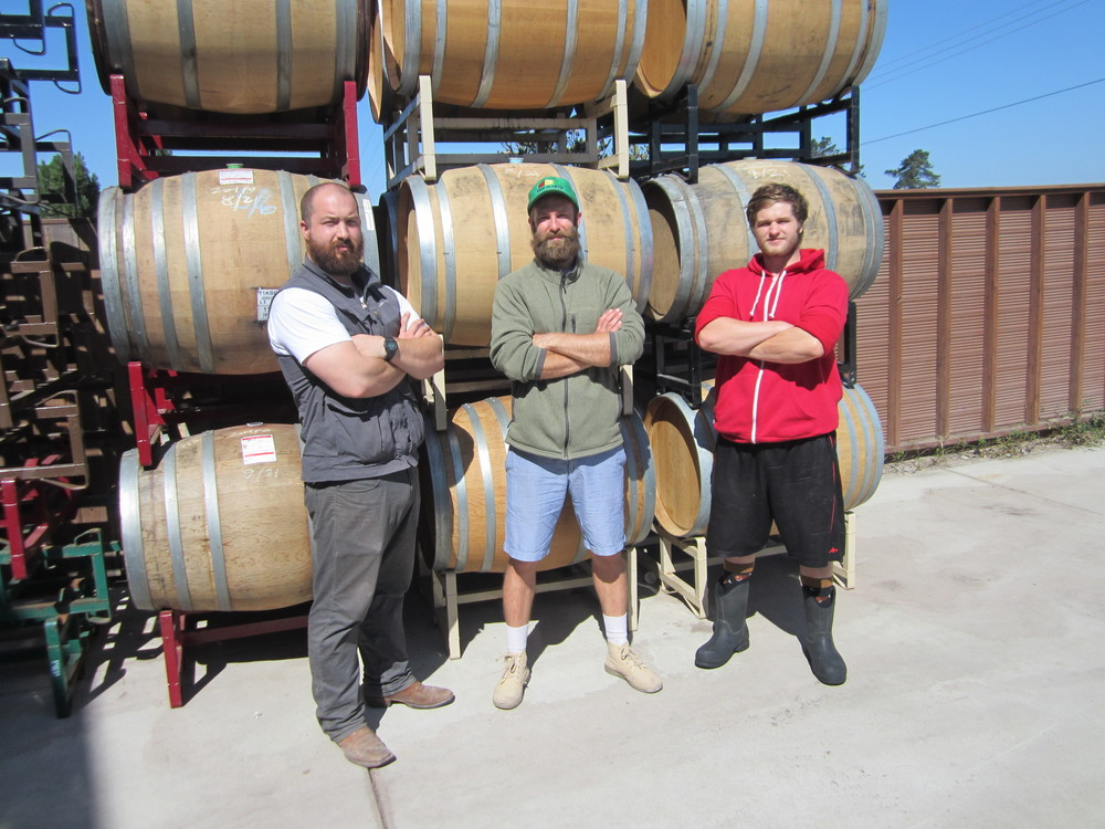 Dan Schuler-Jones, Assistant Winemaker Chris McIntyre, Cellar Hand Zack Finch