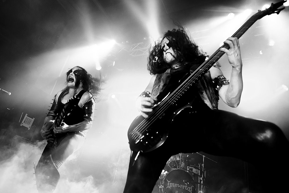 Black Metal band Immortal Live at Hole in the Sky Festival source:  https://commons.wikimedia.org/wiki/File:Immortal_live_@_Hole_in_the_Sky.jpg