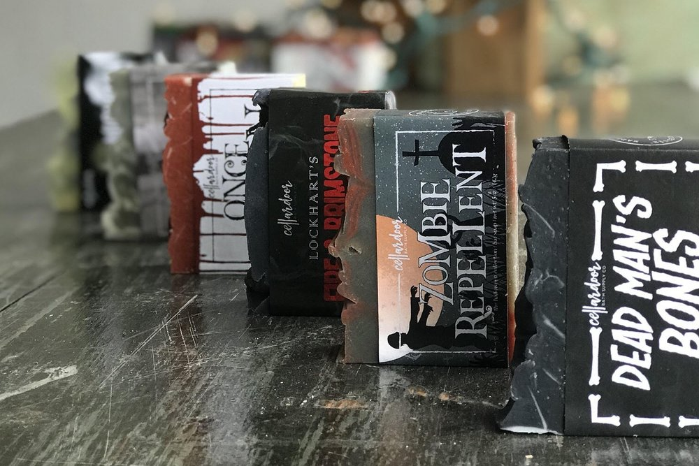 Buy any Cellar Door Halloween themed soap, get one identical bar of soap FREE!