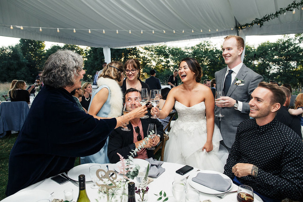 Keepsake Events Vancouver Wedding Toasting Tables