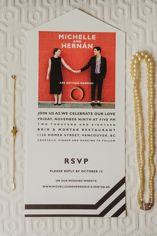 Keepsake Events Vancouver M&H Wedding Invitation