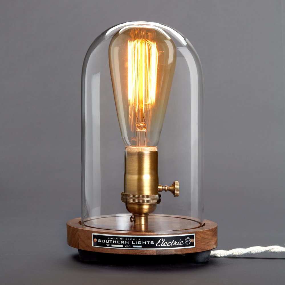 Bell jar table lamp southern lights electric arubaitofo Gallery