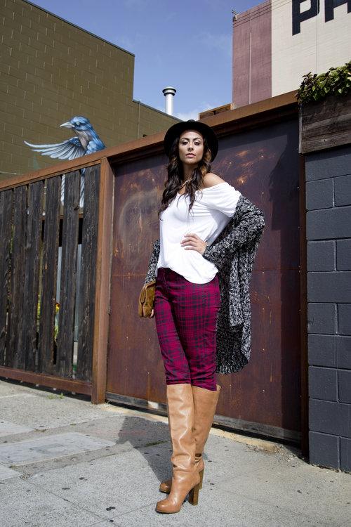 Alicia Jay Tall Style Long Tall Sally Plaid Skinny Jeans Swag 1 (5).jpg