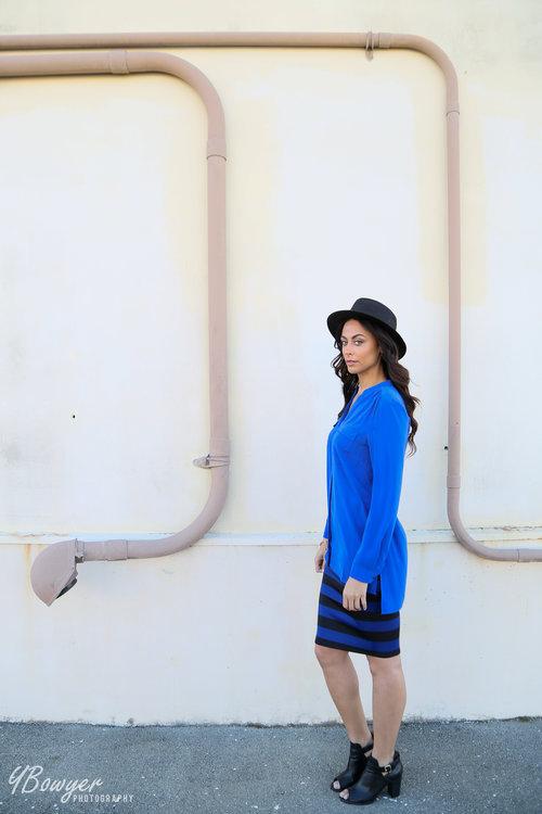 Alicia Jay TallSWAG Style Fashion Blog Blogger Long Tall Sally Two Pocket Tunic Shirt Blue Spring New 1.jpg