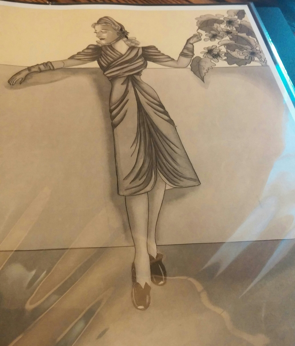 At lunch, MARGE creator Kaersten Cooper shared some of her Grandmother Marjorie Boldt's amazing fashion illustrations. I was honored to see them!