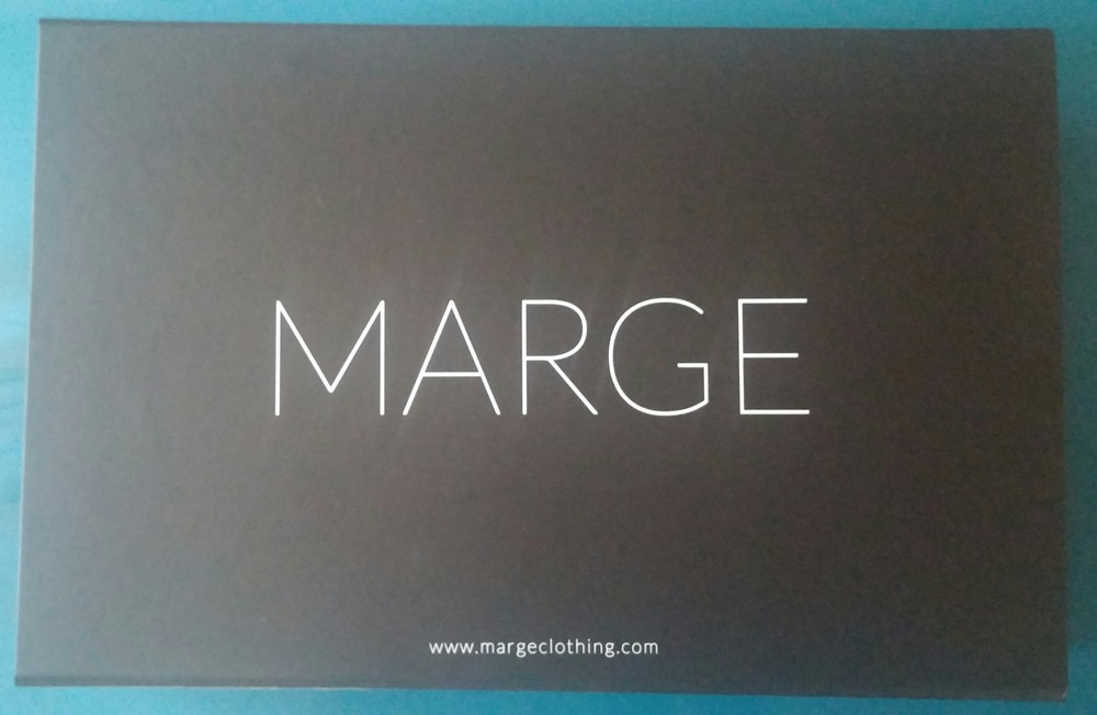 This is the box that every MARGE order comes in. I absolutely love all of the details of the brand.