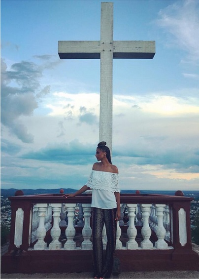 "That night we visited Holguin's most popular landmark, Loma de La Cruz. It was atop the highest hill in Holguin. It was breathtaking with a view of the entire city.   Tall Shirt and 37"" inseam Pants - Alloy Apparel"