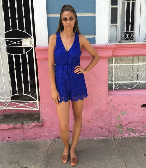 I packed a ton of jumpers for my trip to Cuba. They were easy to throw on and lightweight for the Cuba heat.  This lace option is TTYALondon for Long Tall Sally . It's super long in the torso and doesn't need accessories because it pops on its own.