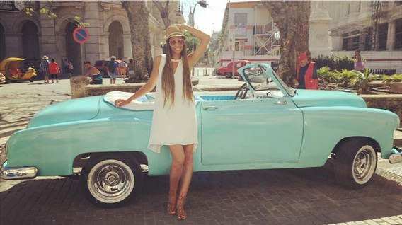 I seriously want a classic car now!   Dress and Shoes - Alloy Apparel