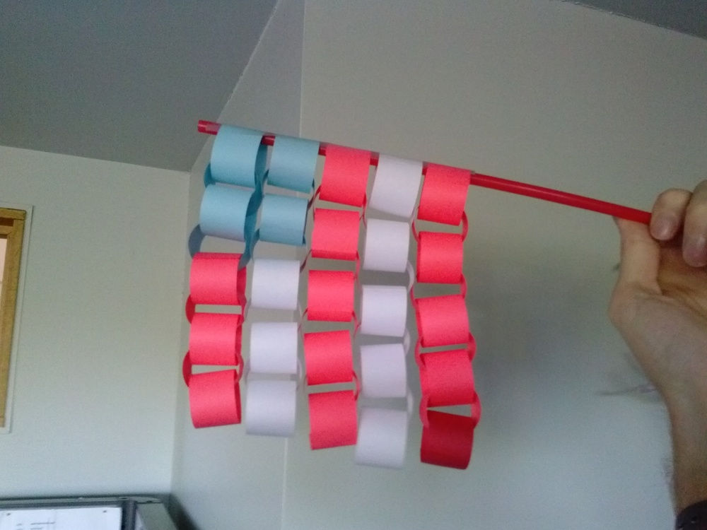 Paper Chain Flag Craft
