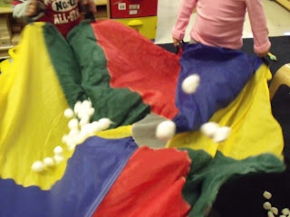 cottonballsnowparachute