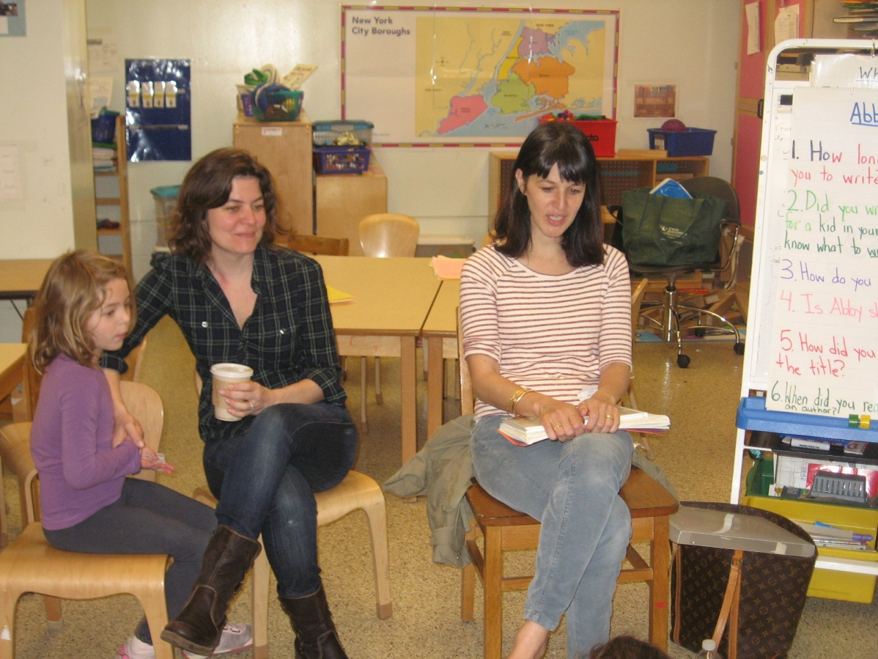 Author visit to The Children's School, Brooklyn