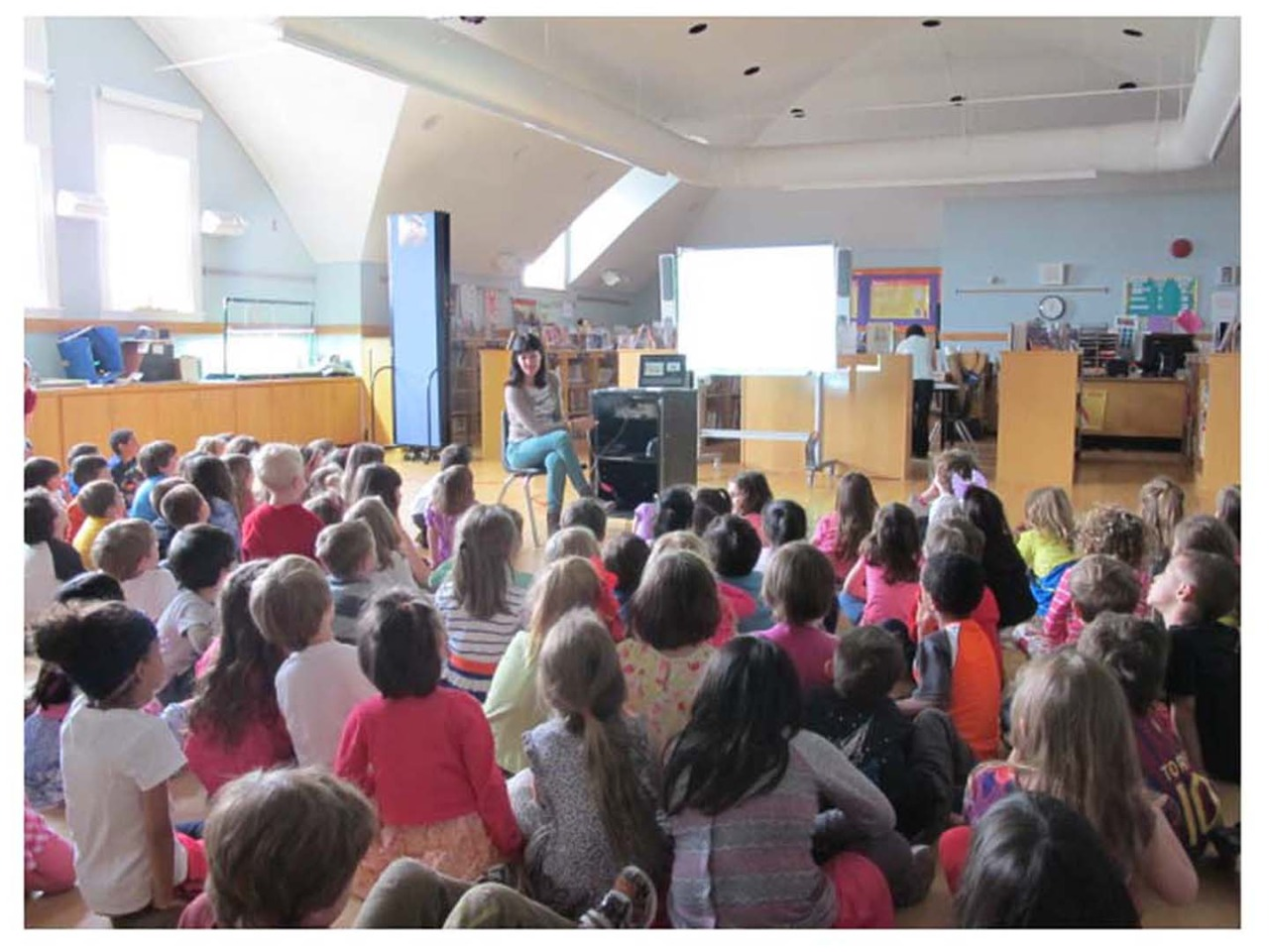 Author visit, PS 107, Brooklyn