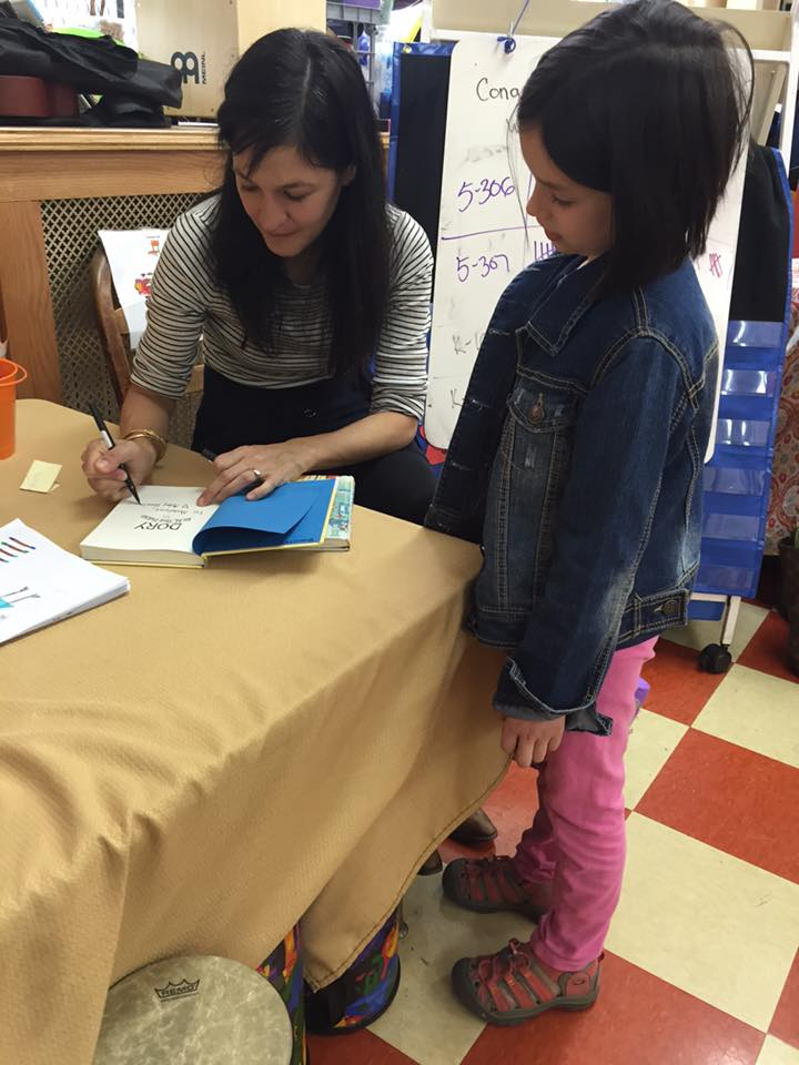 Signing books at PS 39