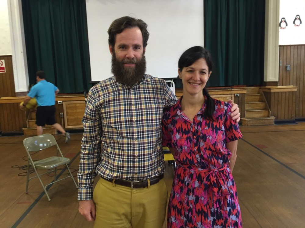 With James Byrne, librarian at Fort Lee Elementary in New Jersey