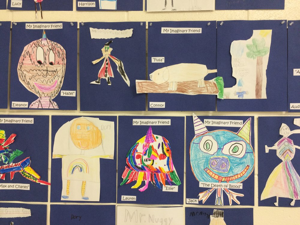 "At St. Michael's Episcopal school, the kids made their own imaginary friends.  ""The Death of Blood"" friend really jumped out at me."