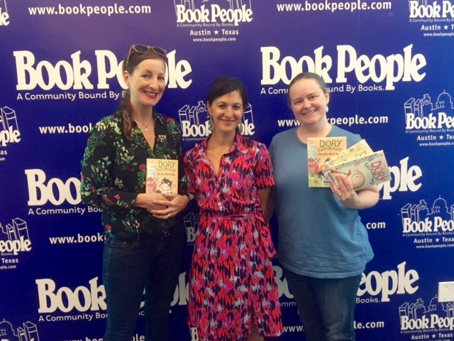 With Jill Bailey, Penguin Young Readers sales rep and Ellen Greene from Book People.