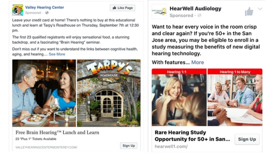Facebook Ad Copy Sample