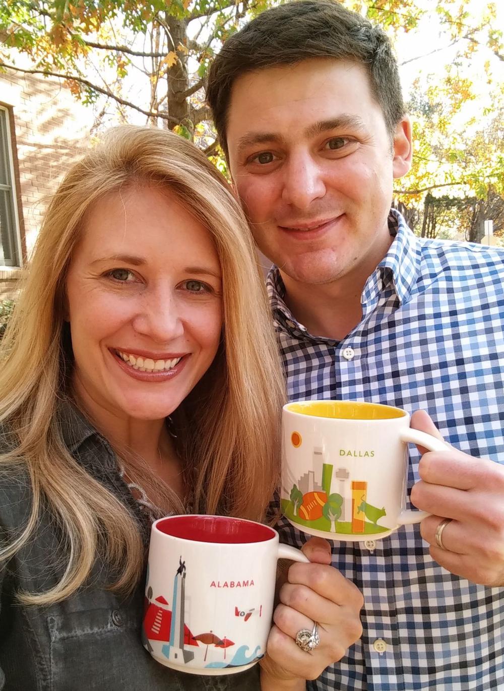 Alabama and Dallas mugs!  Thank you, SBUX.