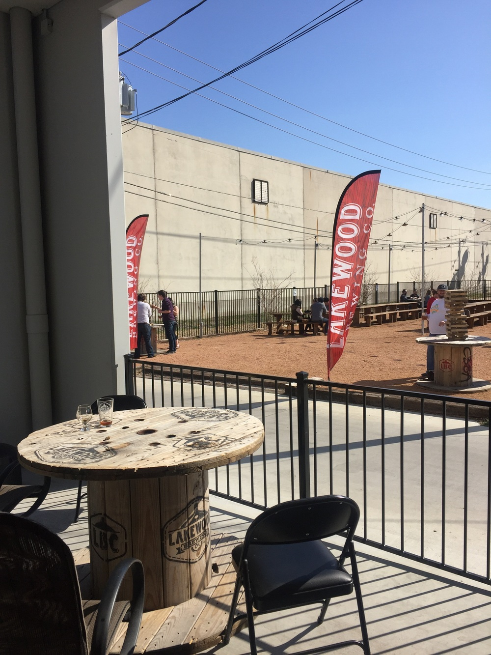 Nice outdoor seating and a beergarden for good-weather days like this one.