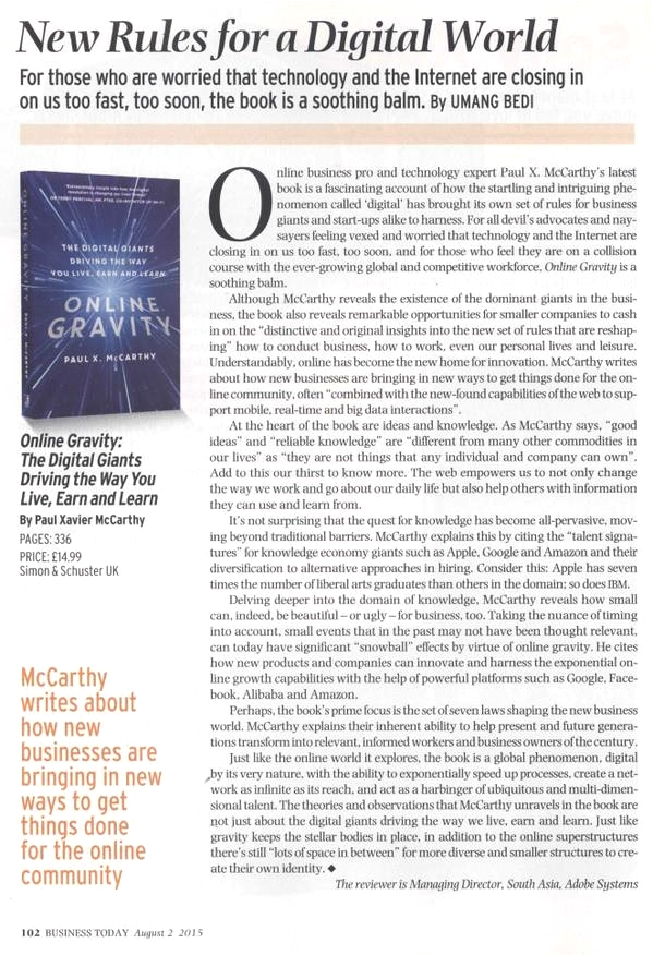 Business Today Review of Online Gravity