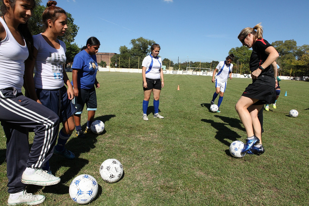 Practice with Argentina's youth program.