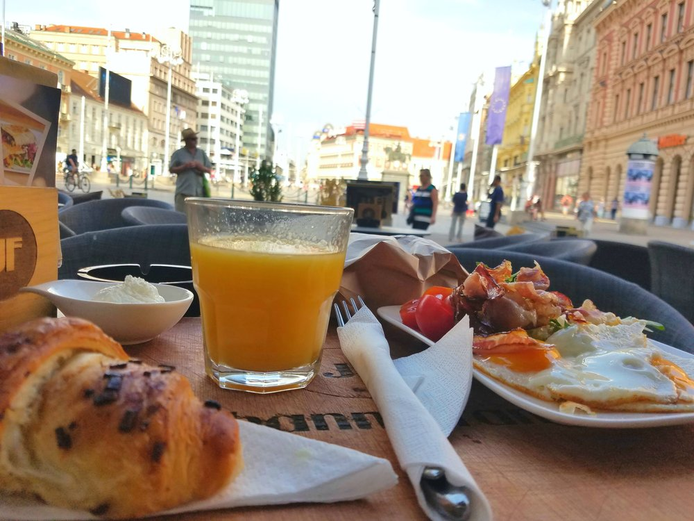 Breakfast in Zagreb - ya, it's Instagram worthy!