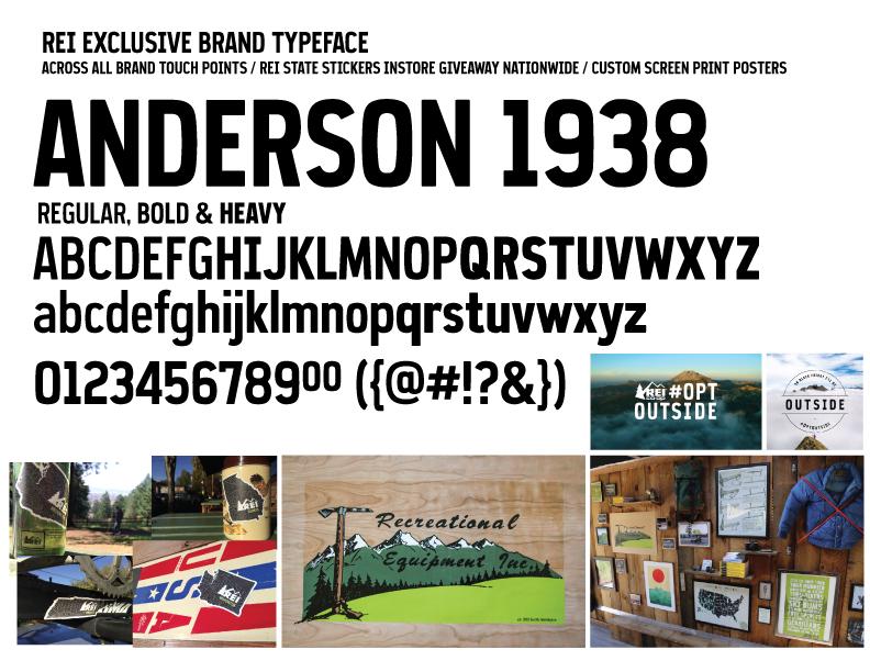 REI Brand Typeface