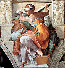 Restoration of Libyan Sibyl, Sistine Chapel, Vatican City, Italy