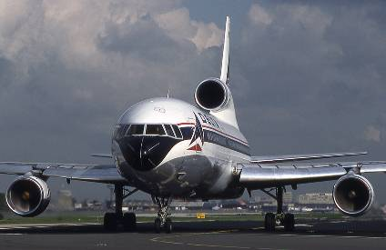 Lockheed L-1011 used for Delta's international flights, numbering as high as 56 in service at one time.