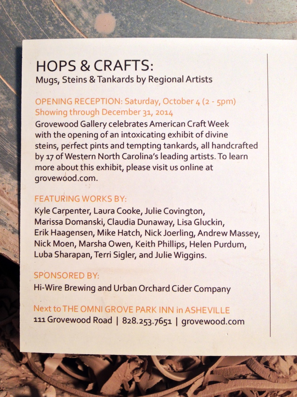 hops and crafts card