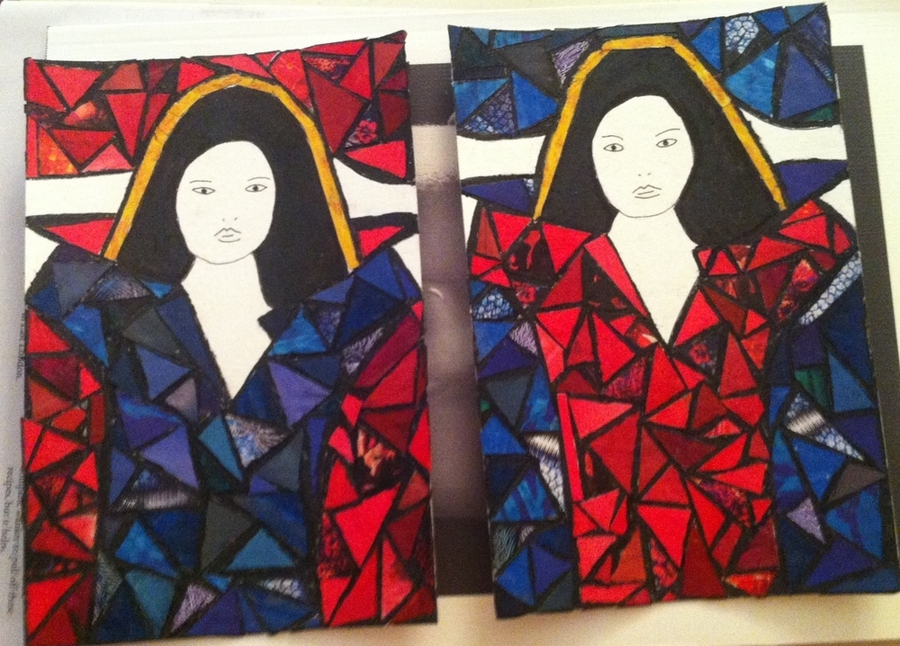 Woman in Blue  (2014),  Woman in Red (2014)