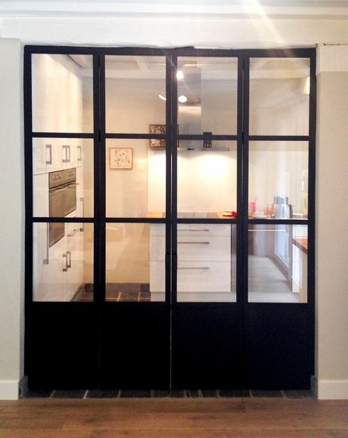 Vonduren - Afscheiding glas keuken woonkamer ...