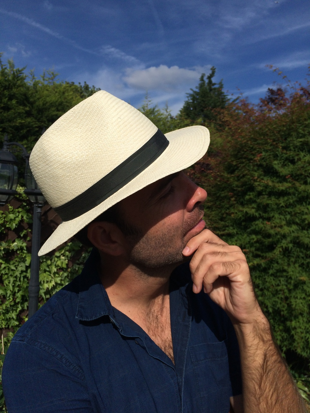 The Aid Worker off to Sudan with his City Milliner Panama