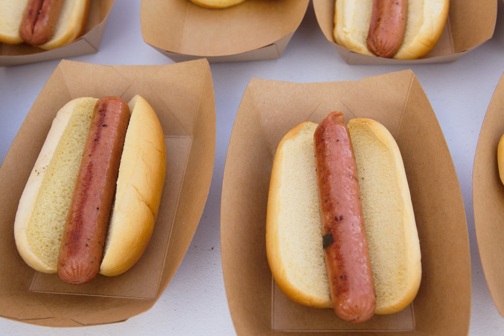 Grilled hot dogs, too