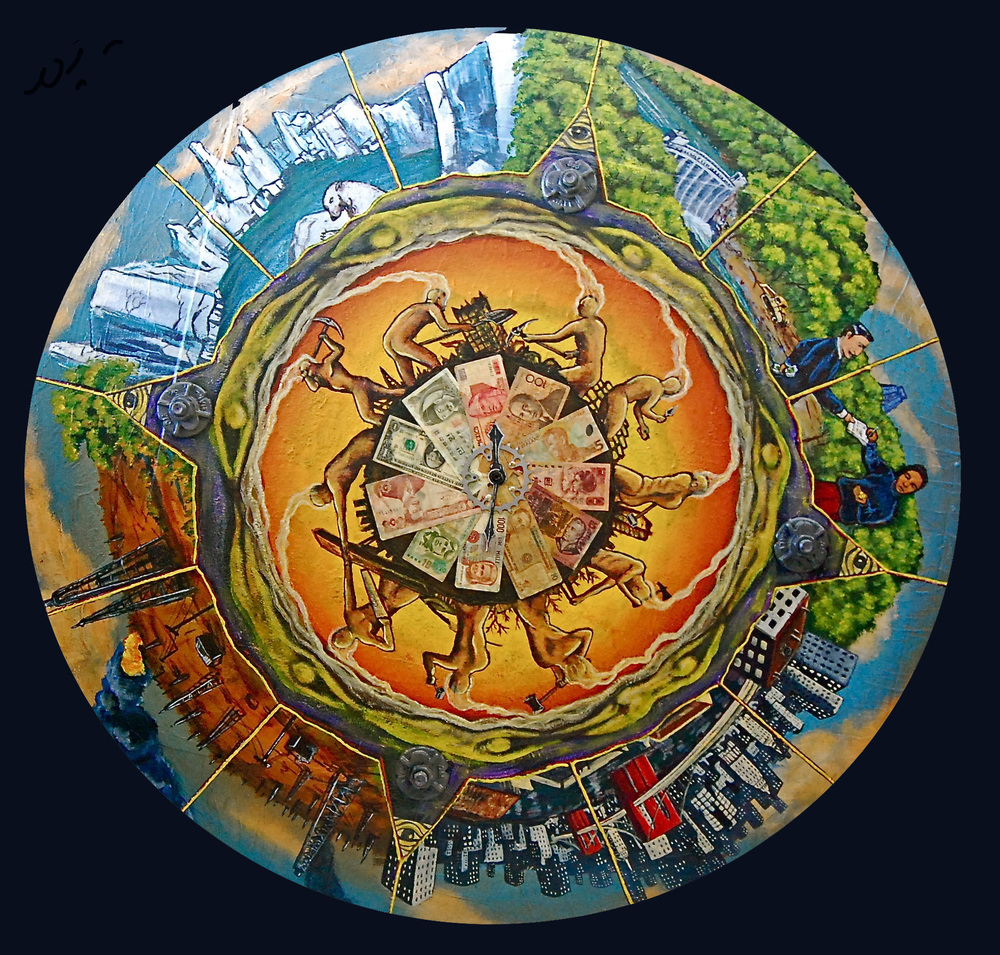 'Wheel of Fortune' Mixed media 53''x53''