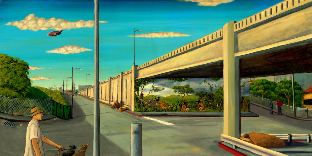 '1st street' Acrylic on canvas 36''x60''
