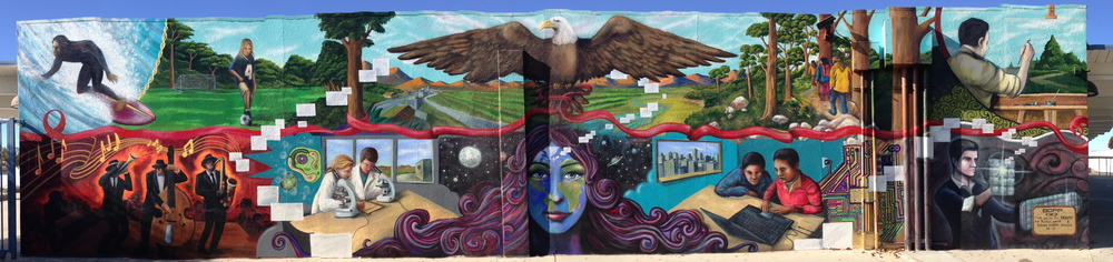 'Mother Earth' Acrylic and Aerosol 15'x60' Redondo Beach, CA