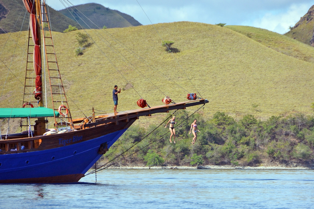 family fun in komodo national park while sailing with tiger blue