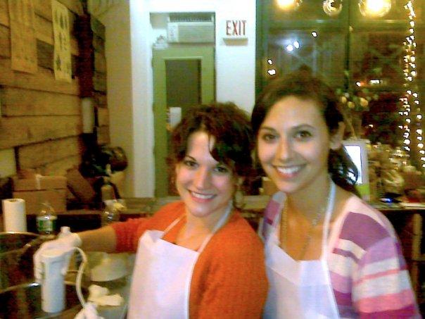 Adriane and Rachel Beider making Soap