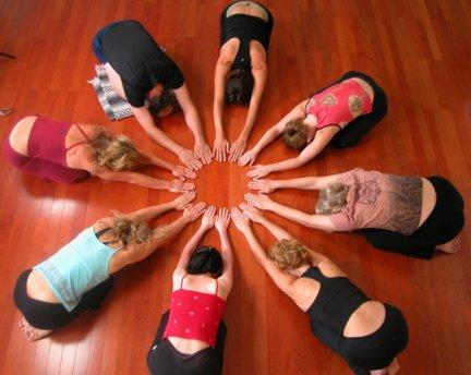 yoga in a group